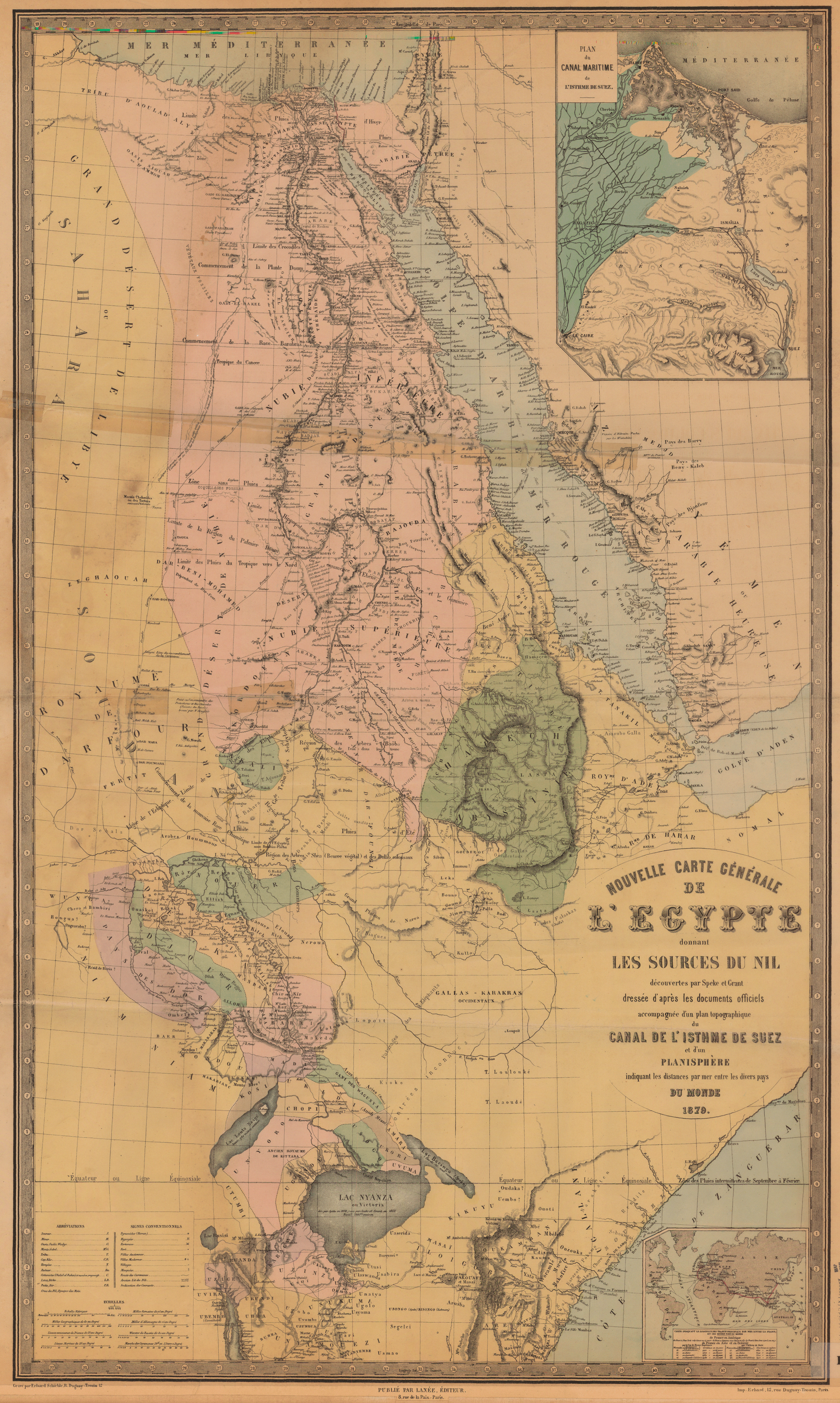 Blue Nile River In Africa Map.Untitled Document
